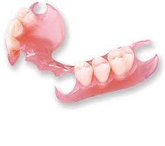 Partial denture, removable, without metal attachment