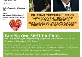 Dr. teeters cardiology talk plant-based Buffalo NY