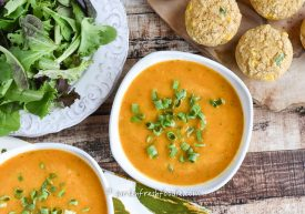 Butternut Squash Soup With Corn Muffins